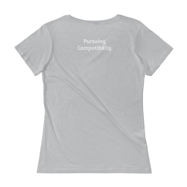 Hug Full of Compassion Ladies' Scoopneck T-Shirt - Pursuing Compatibility