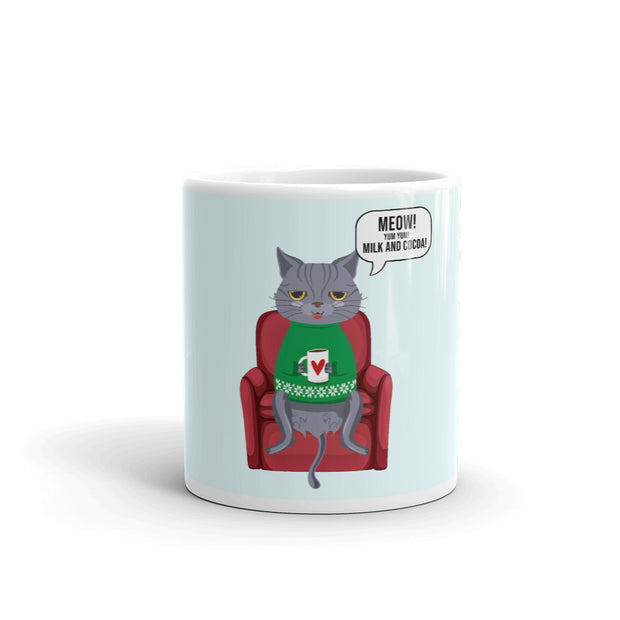 Funny Cat Drinking Cocoa Mug - Pursuing Compatibility