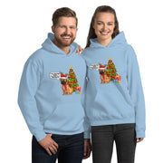 Christmas Dog Dressed Up Unisex Hoodie - Pursuing Compatibility