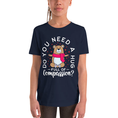 Hug Full Of Compassion Youth Short Sleeve T-Shirt - Pursuing Compatibility