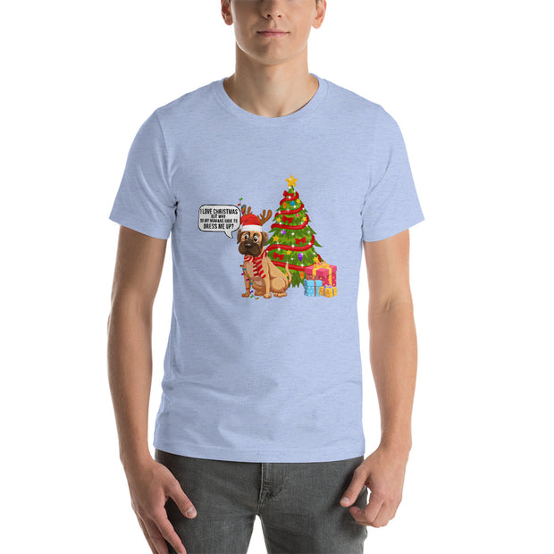 Christmas Dog Dressed Up Short-Sleeve Unisex T-Shirt - Pursuing Compatibility