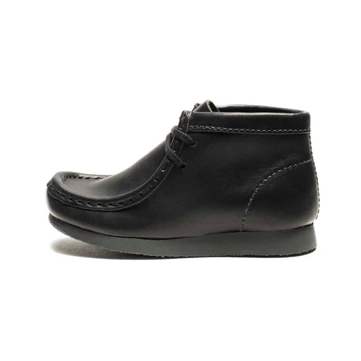 CLARKS KIDS WALLABEE BOOT - BLACK LEATHER