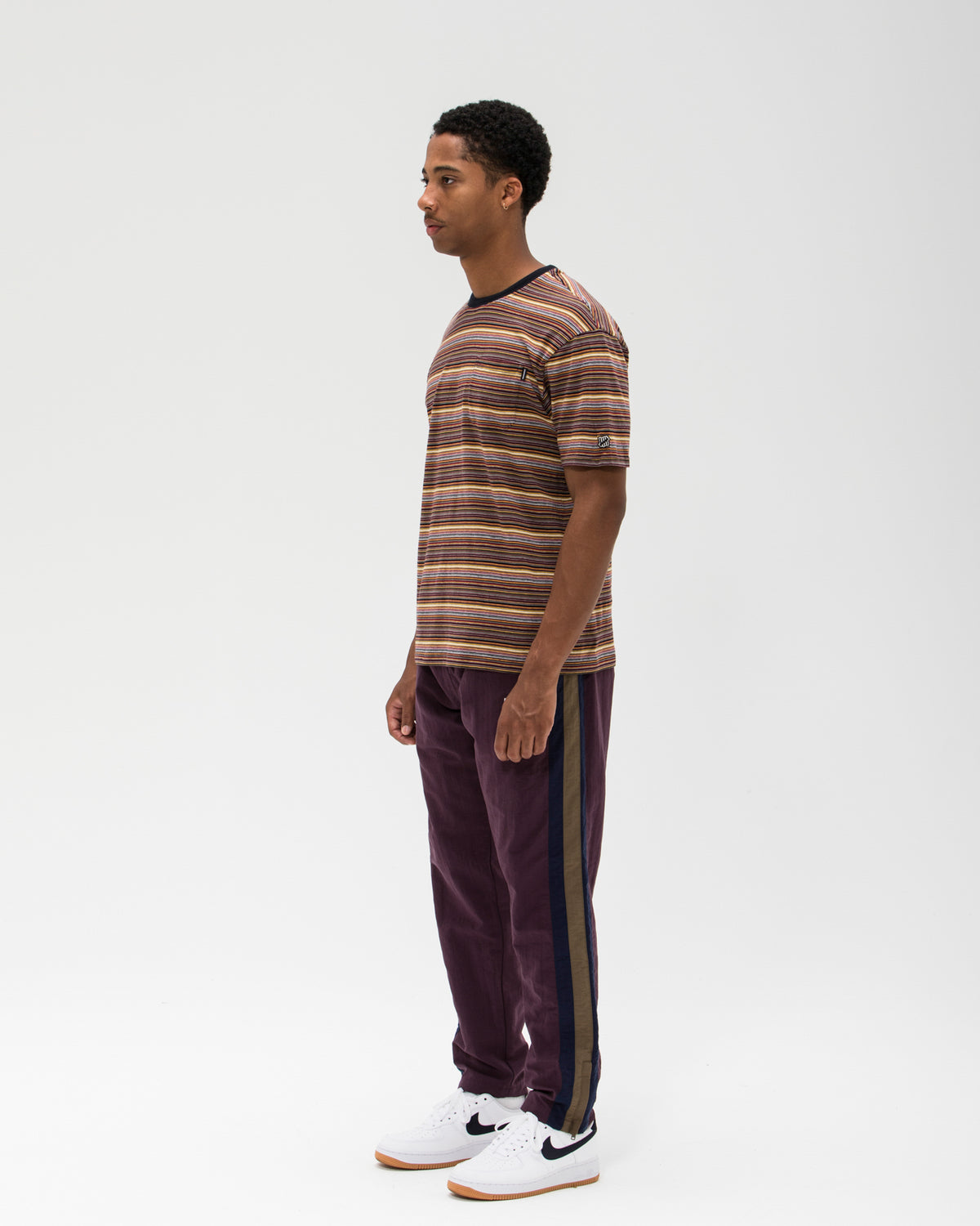 UNDEFEATED STATIC STRIPE POCKET TEE - MULTI