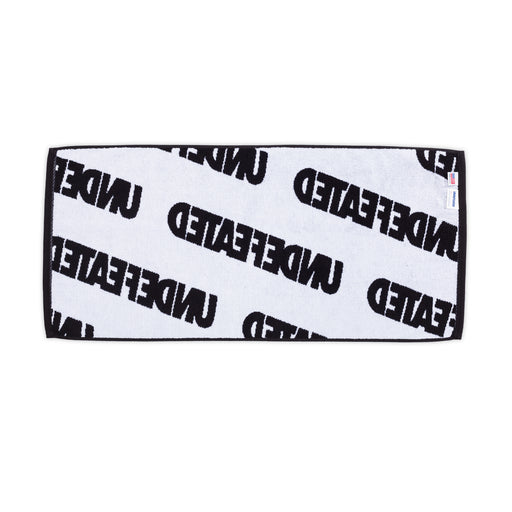 UNDEFEATED REPEAT HAND TOWEL - BLACK/WHITE Image 2