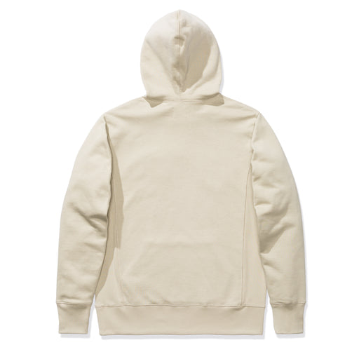 PATTA BIKER LOGO HOODED SWEATER - PELICAN