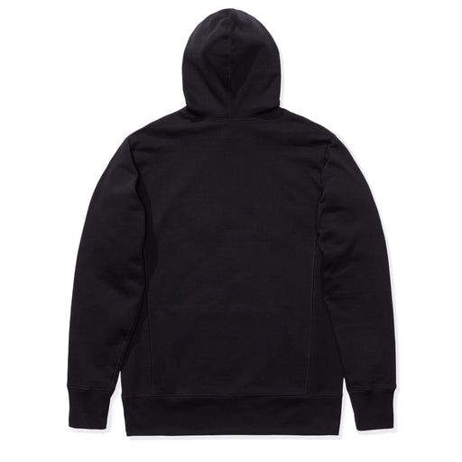 PATTA BIKER LOGO HOODED SWEATER - BLACK