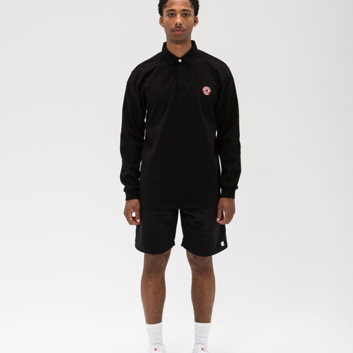 UNDEFEATED PANELED L/S RUGBY - BLACK Image 5