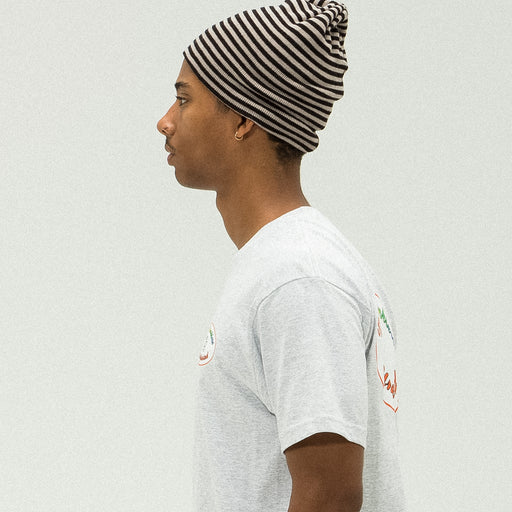 UNDEFEATED STRIPED BEANIE - BLACK Image 5