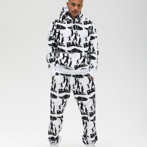UNDEFEATED PRINTED PULLOVER HOODIE - WHITE Image 5
