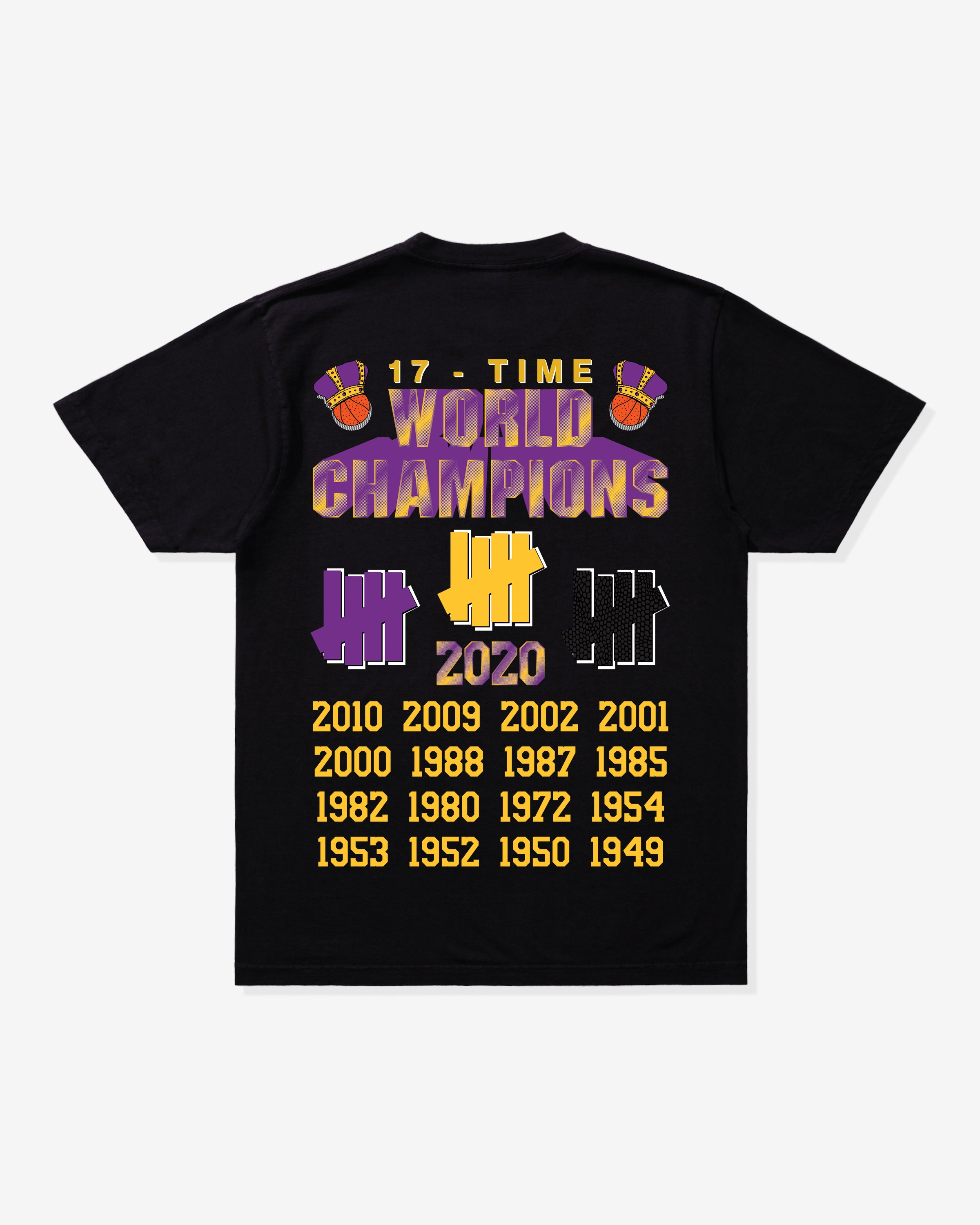 UNDEFEATED 17 TIME CHAMP TEE - BLACK