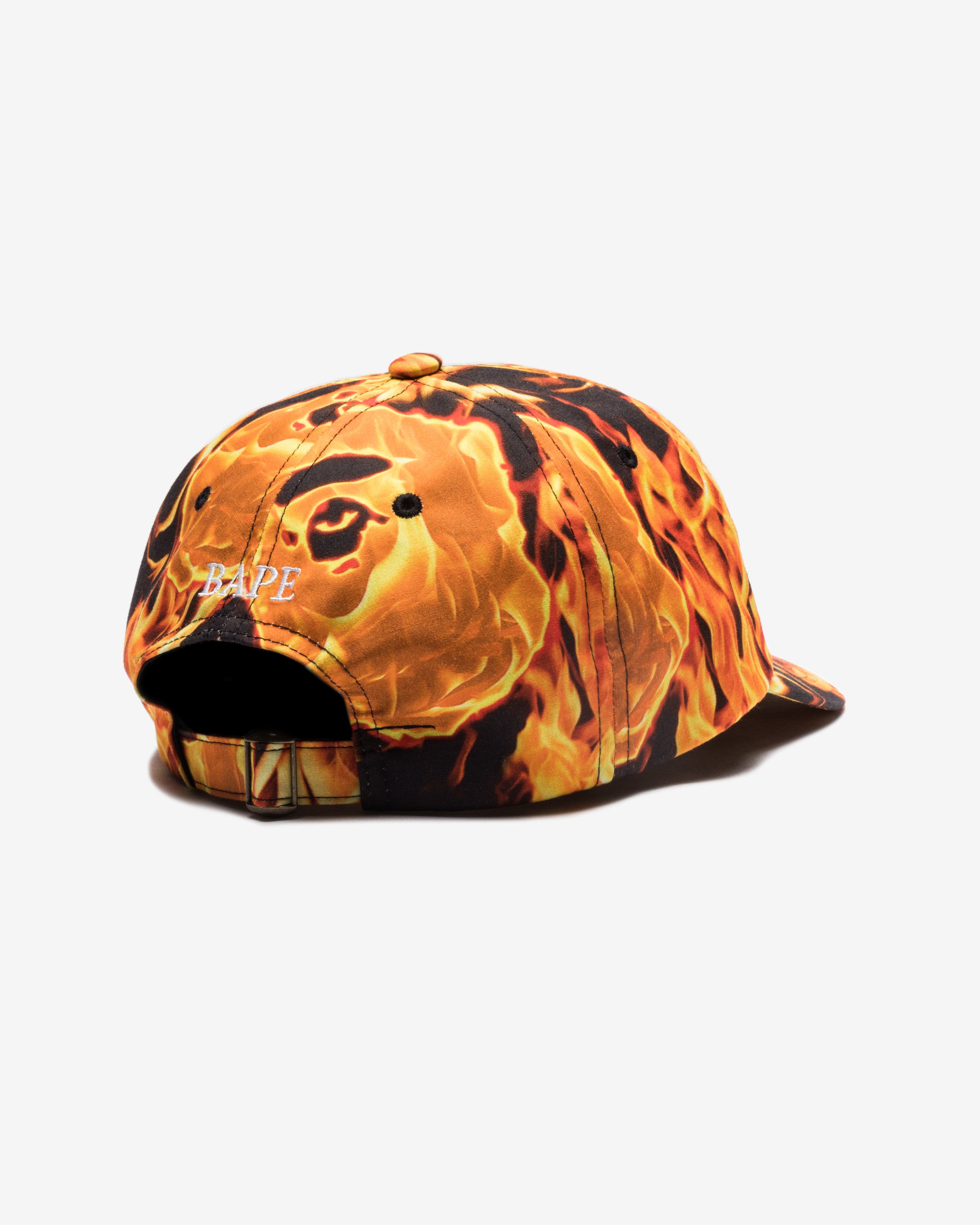 BAPE FLAME PANEL CAP - ORANGE