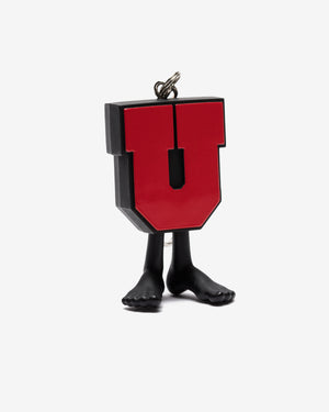 UNDEFEATED X MEDICOM UMAN KEYCHAIN - BLACK/RED