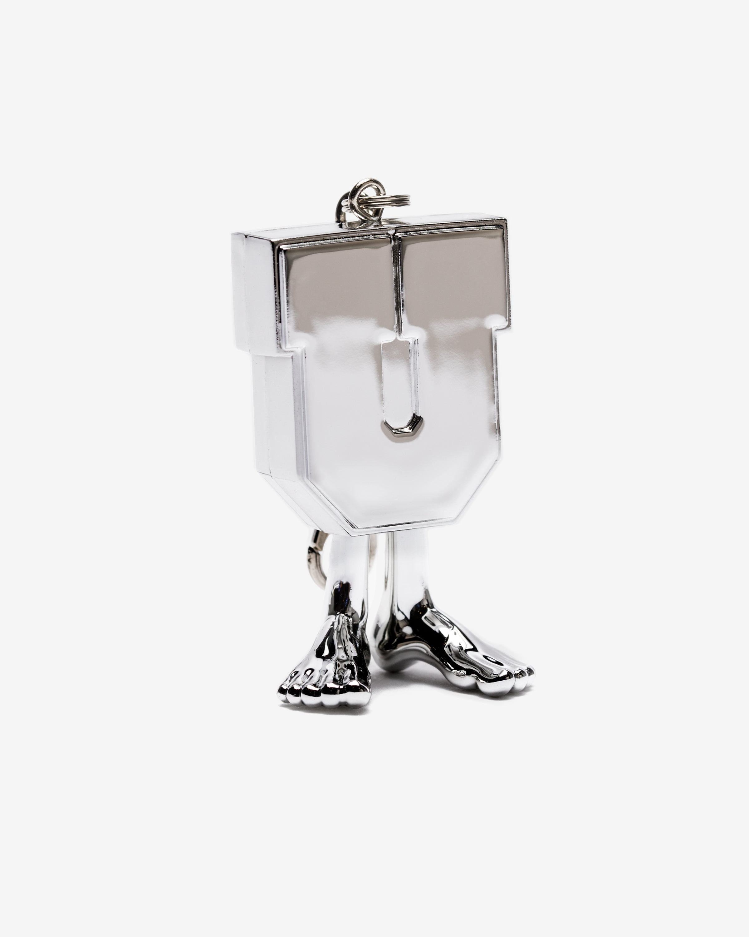UNDEFEATED X MEDICOM UMAN KEYCHAIN - CHROME