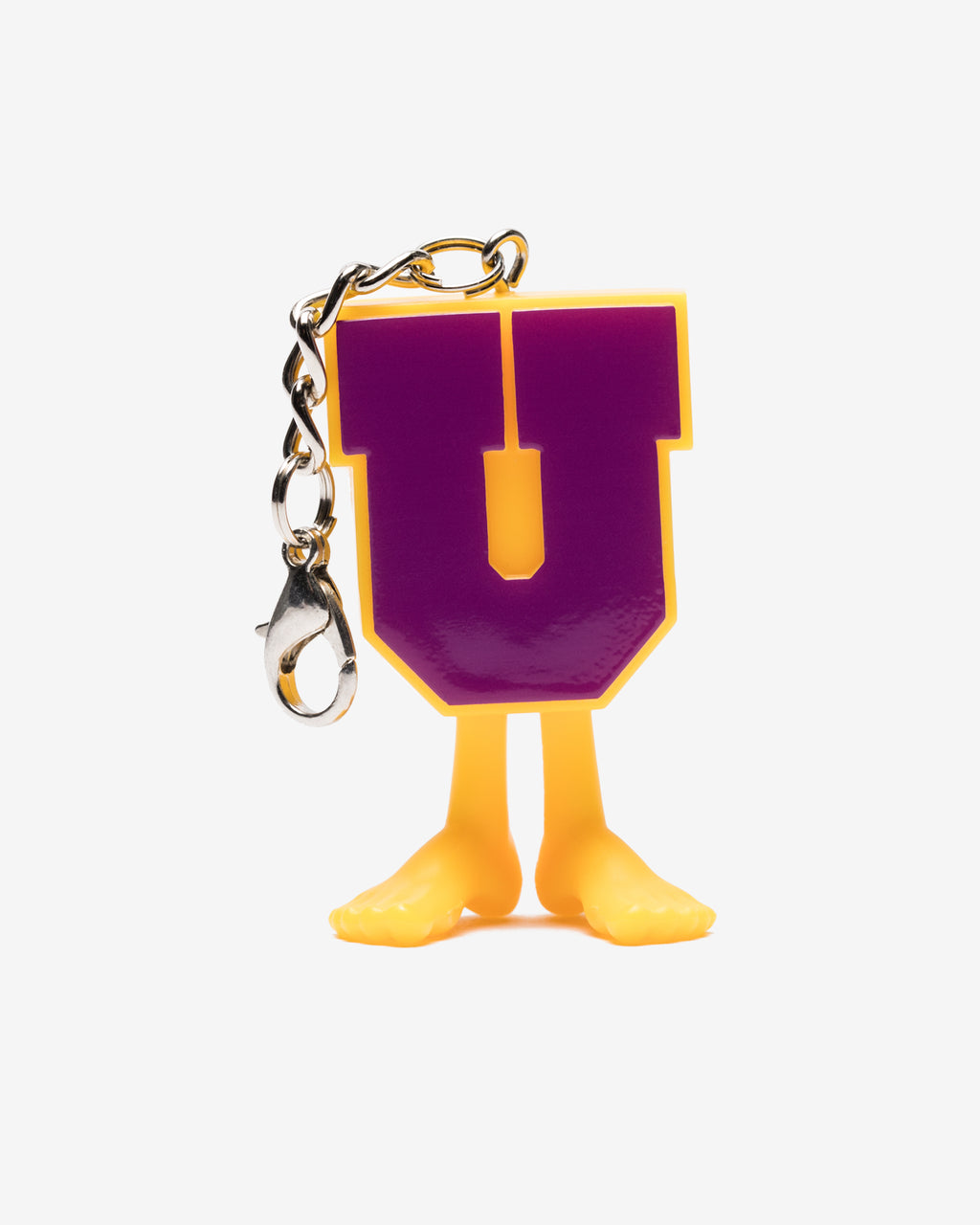 UNDEFEATED X MEDICOM UMAN KEYCHAIN - PURPLE/YELLOW