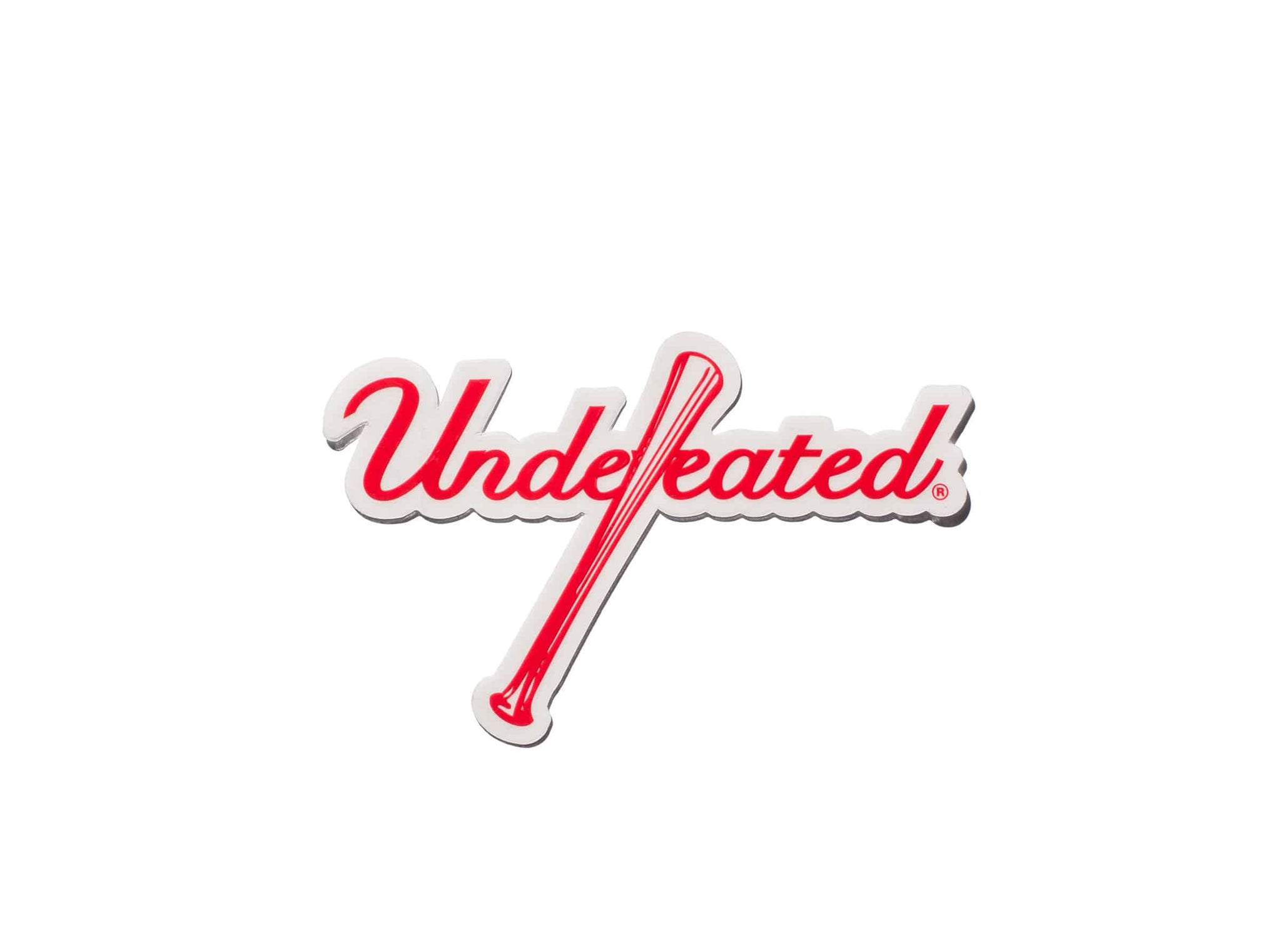 UNDEFEATED BAT STICKER - RED