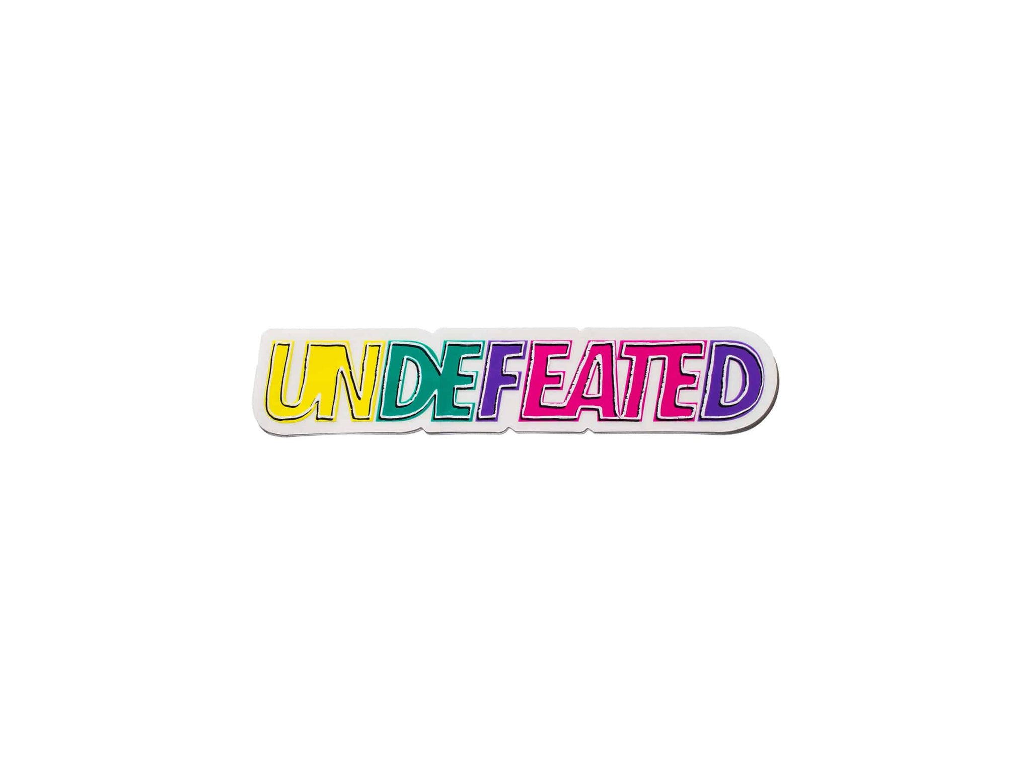 UNDEFEATED OUTLINE STICKER - MULTI