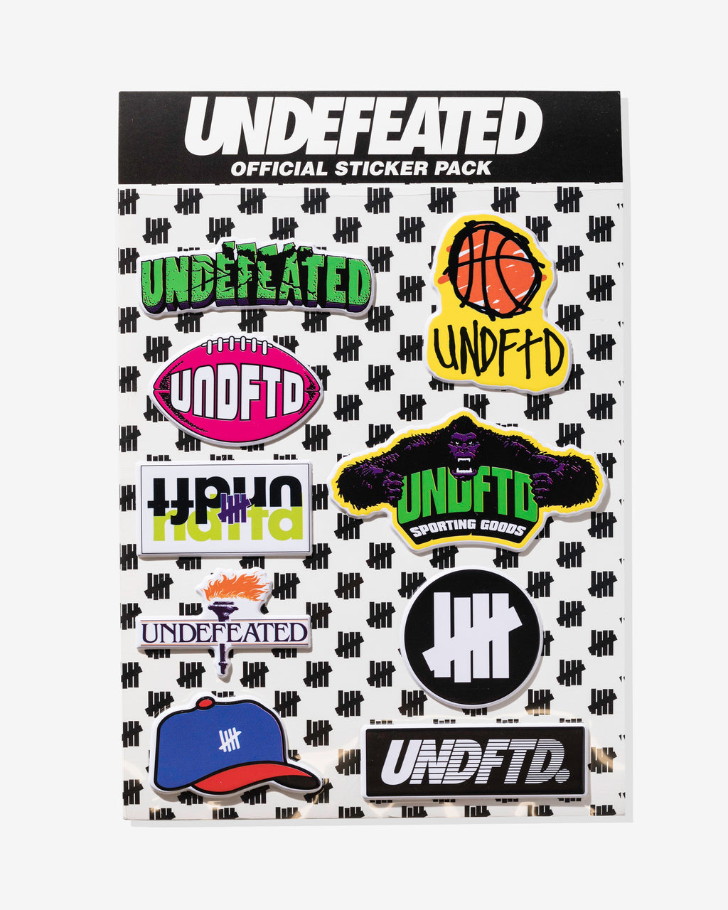 UNDEFEATED STICKER PACK - MULTI