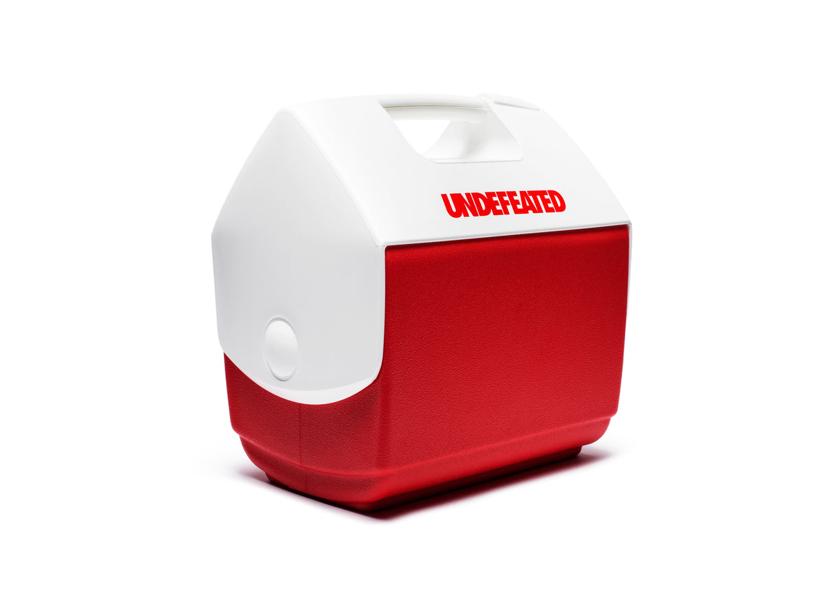 UNDEFEATED X IGLOO PLAYMATE® PAL COOLER - WHITE/RED