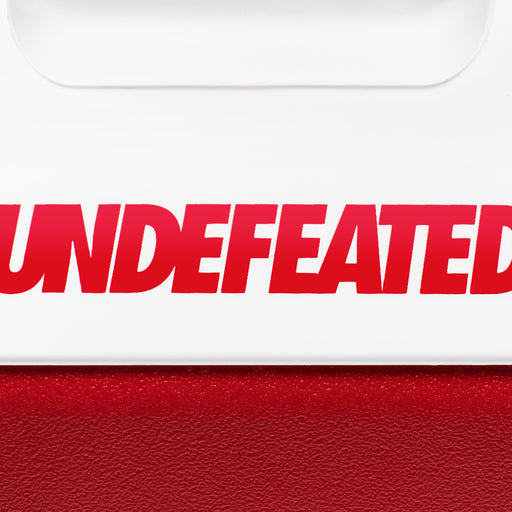 UNDEFEATED X IGLOO PLAYMATE® PAL COOLER - WHITE/RED Image 3