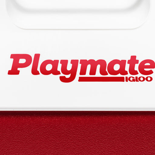 UNDEFEATED X IGLOO PLAYMATE® PAL COOLER - WHITE/RED Image 4