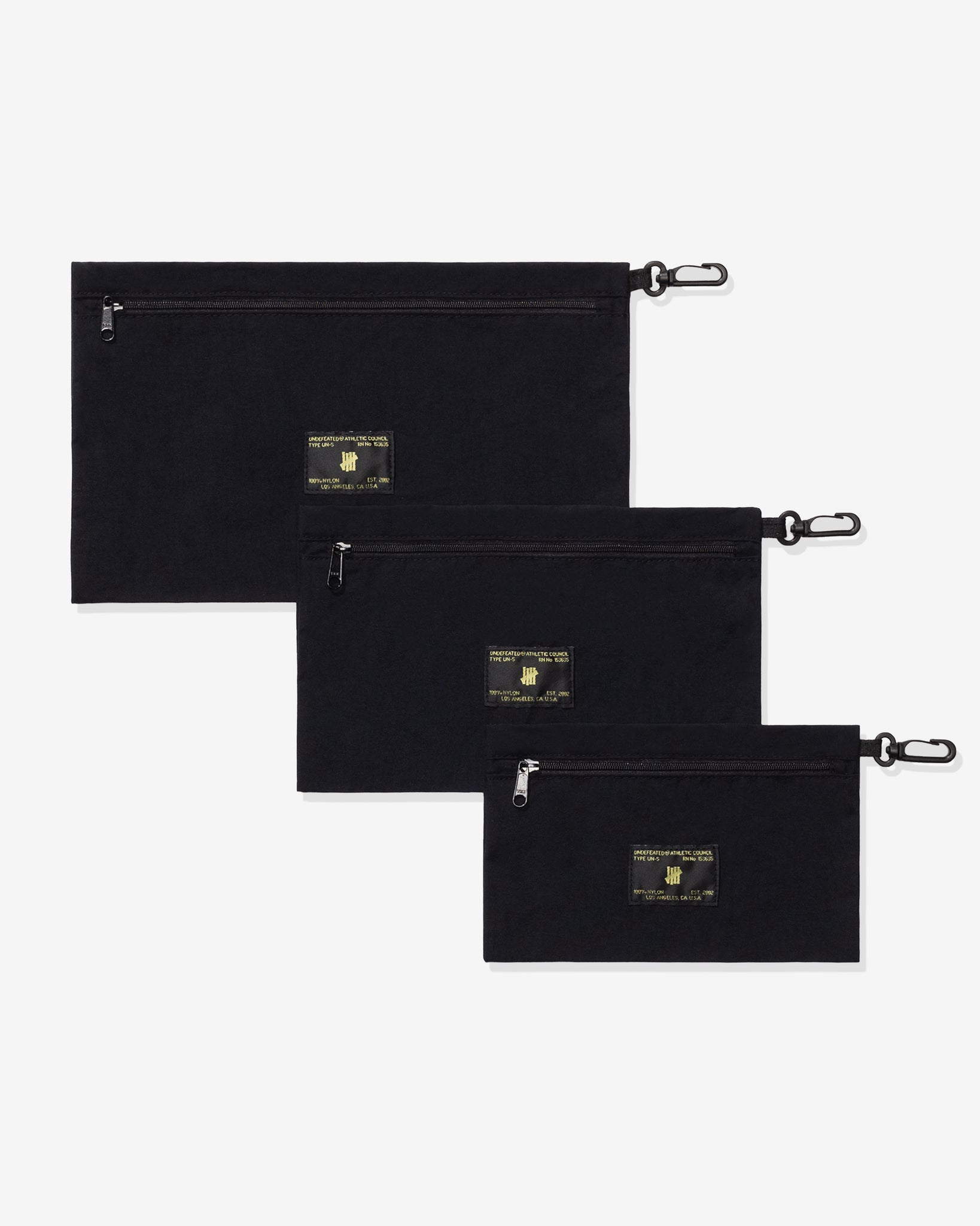UNDEFEATED TRAVEL POUCH SET