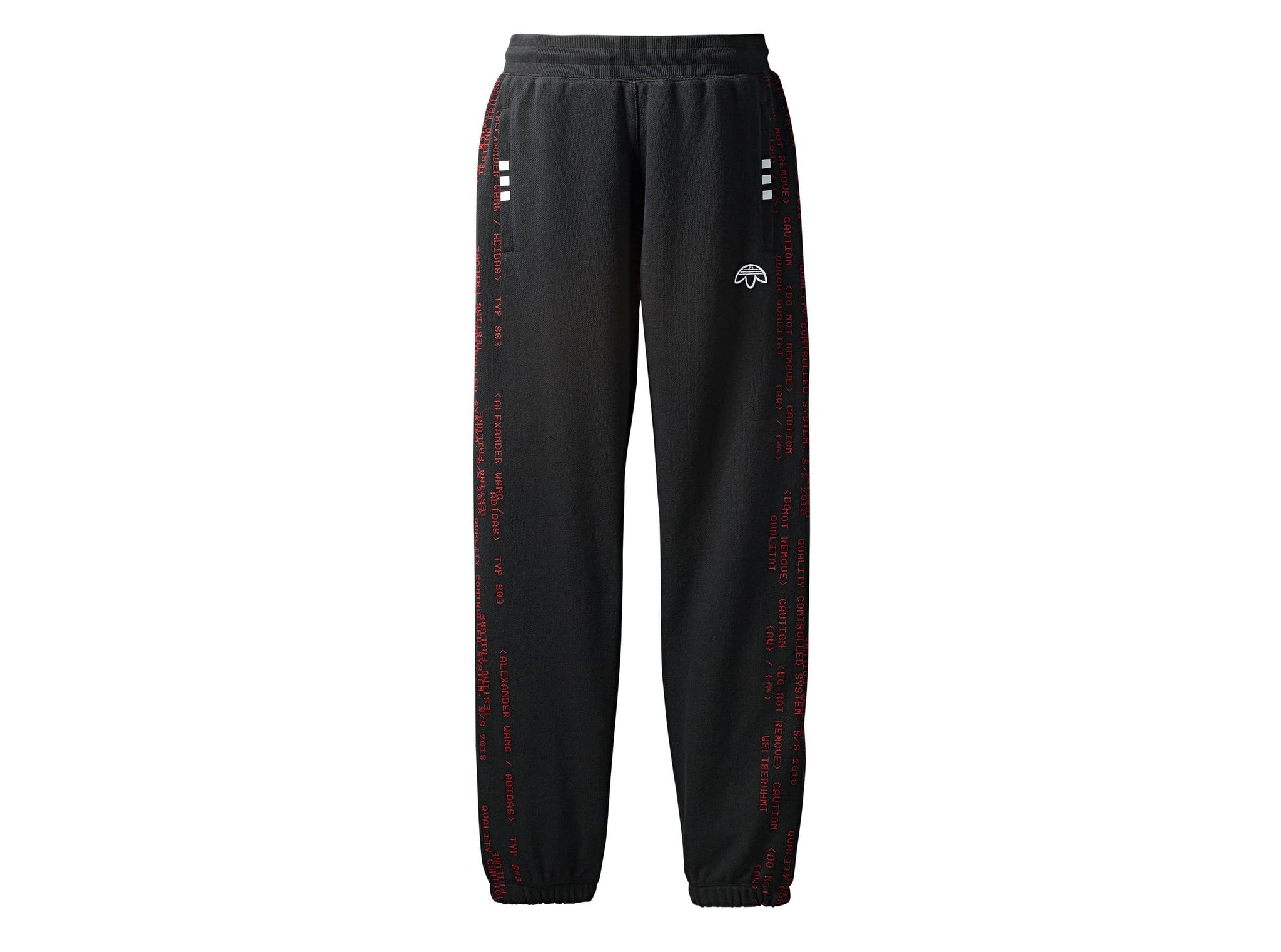 AW JOGGERS - BLACK/CORRED