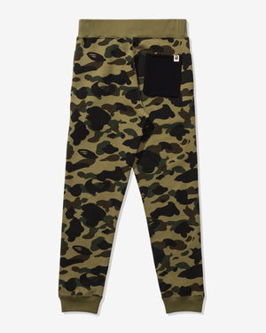 BAPE 1ST CAMO SHARK SLIM SWEAT PANTS - GREEN