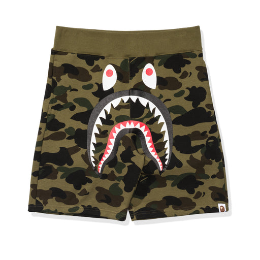 BAPE 1ST CAMO SHARK SWEAT SHORTS Image 1