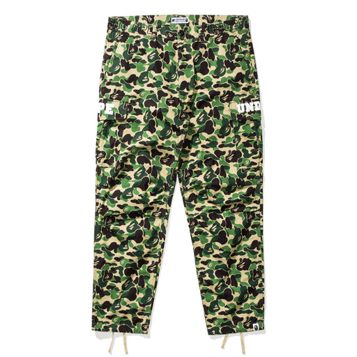 BAPE X UNDEFEATED ABC 6POCKET PANTS - GREEN Image 1