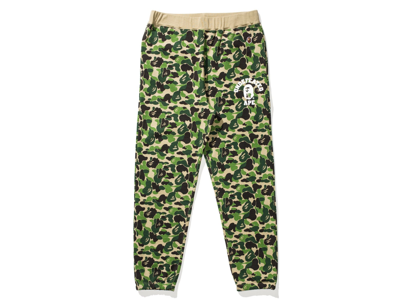 BAPE X UNDEFEATED ABC SWEAT PANTS - GREEN