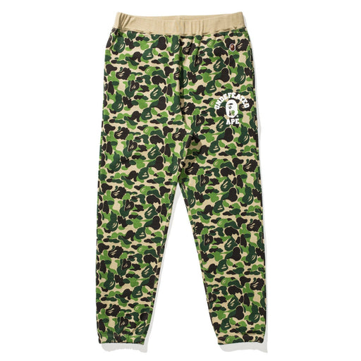 BAPE X UNDEFEATED ABC SWEAT PANTS - GREEN Image 1