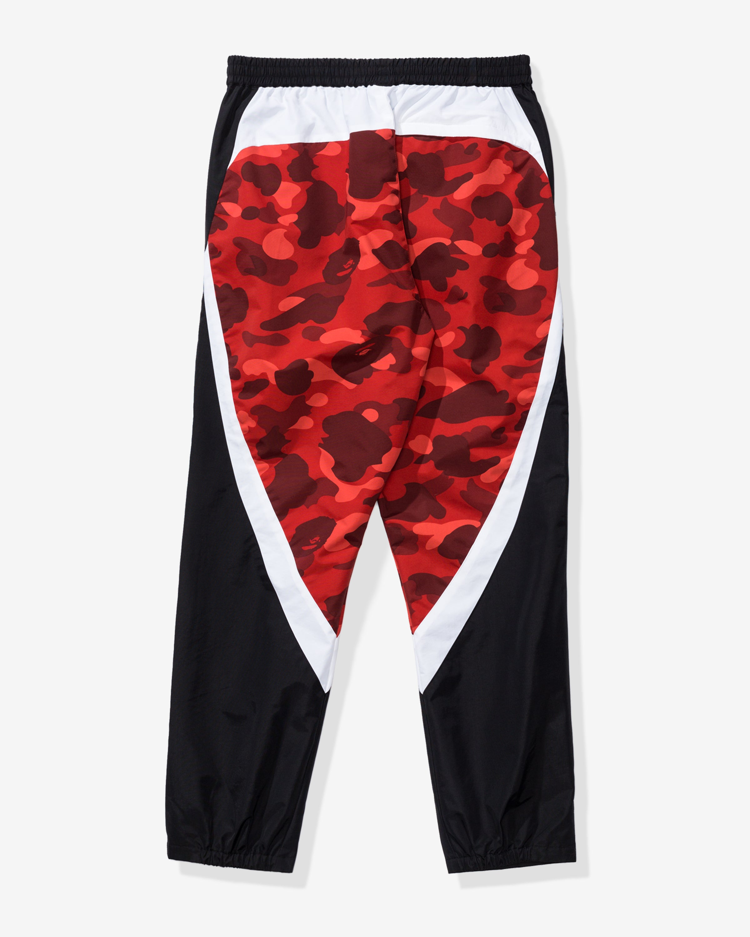 BAPE COLOR CAMO COLOR BLOCK PANTS - RED