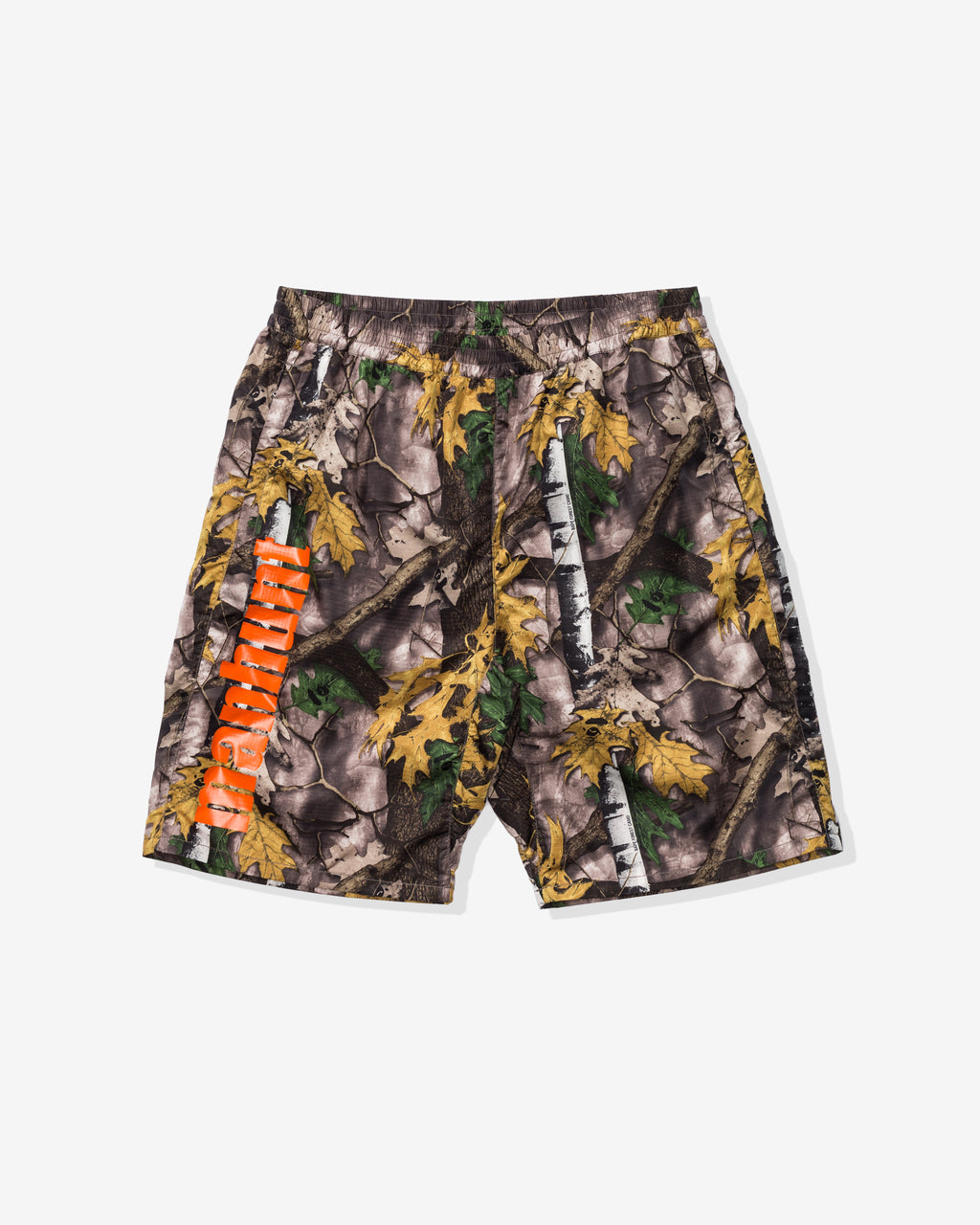 BAPE FOREST CAMO TRACK SHORTS - BEIGE