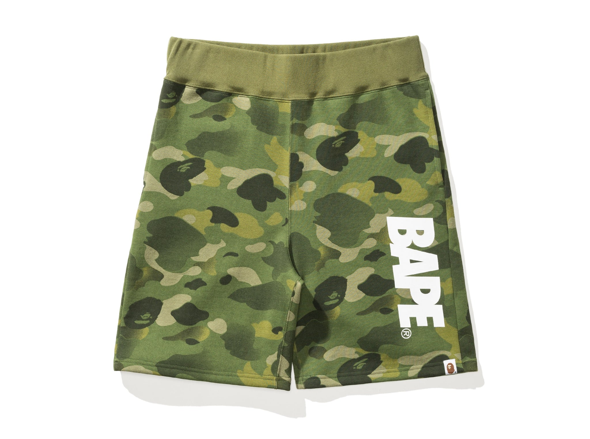 BAPE GRADATION CAMO SWEAT SHORTS