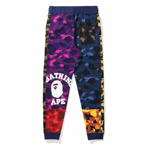 BAPE MIX CAMO CRAZY SLIM SWEAT PANTS - MULTI