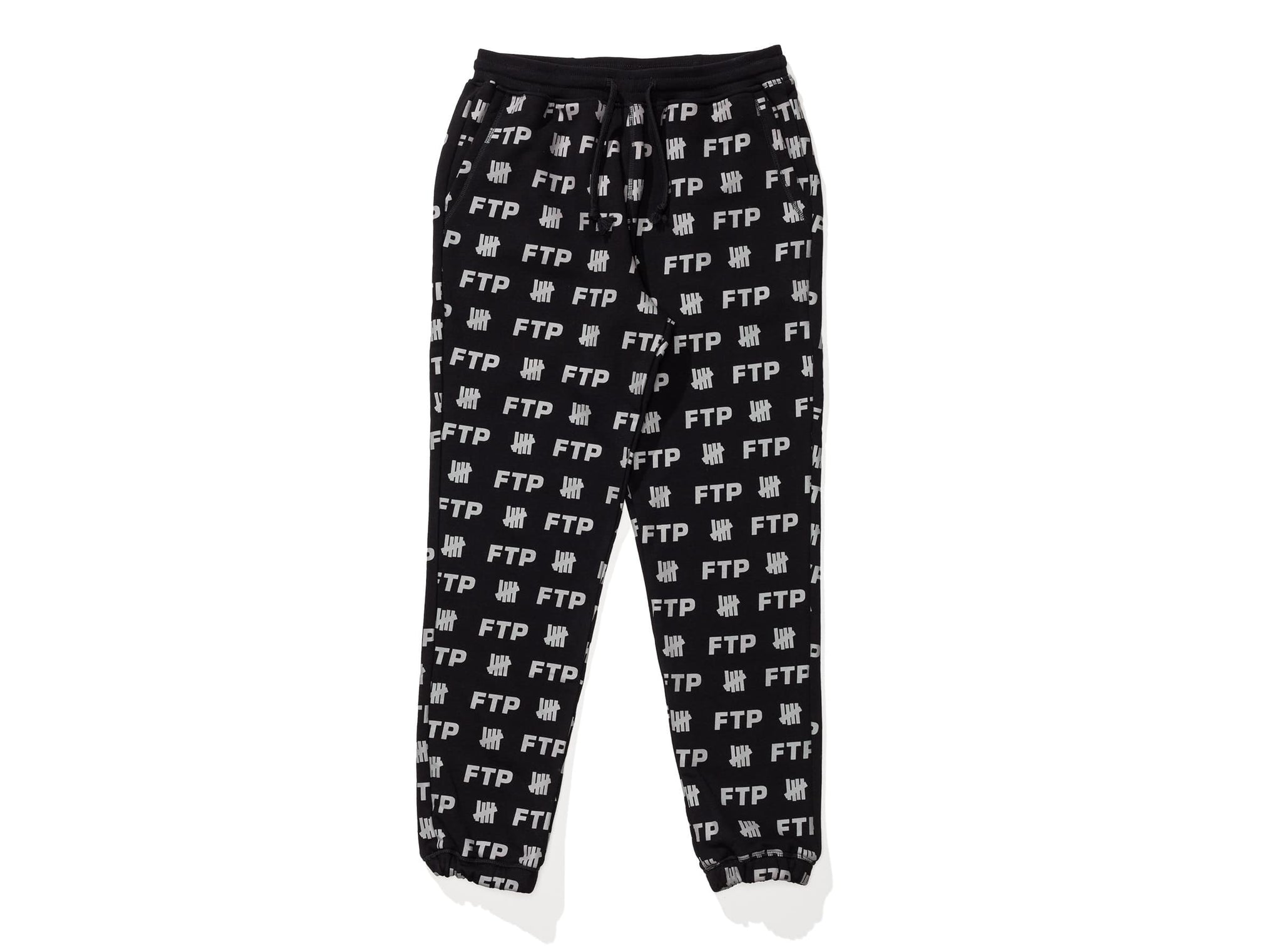 Ftp X Undefeated All Over Sweatpant Black