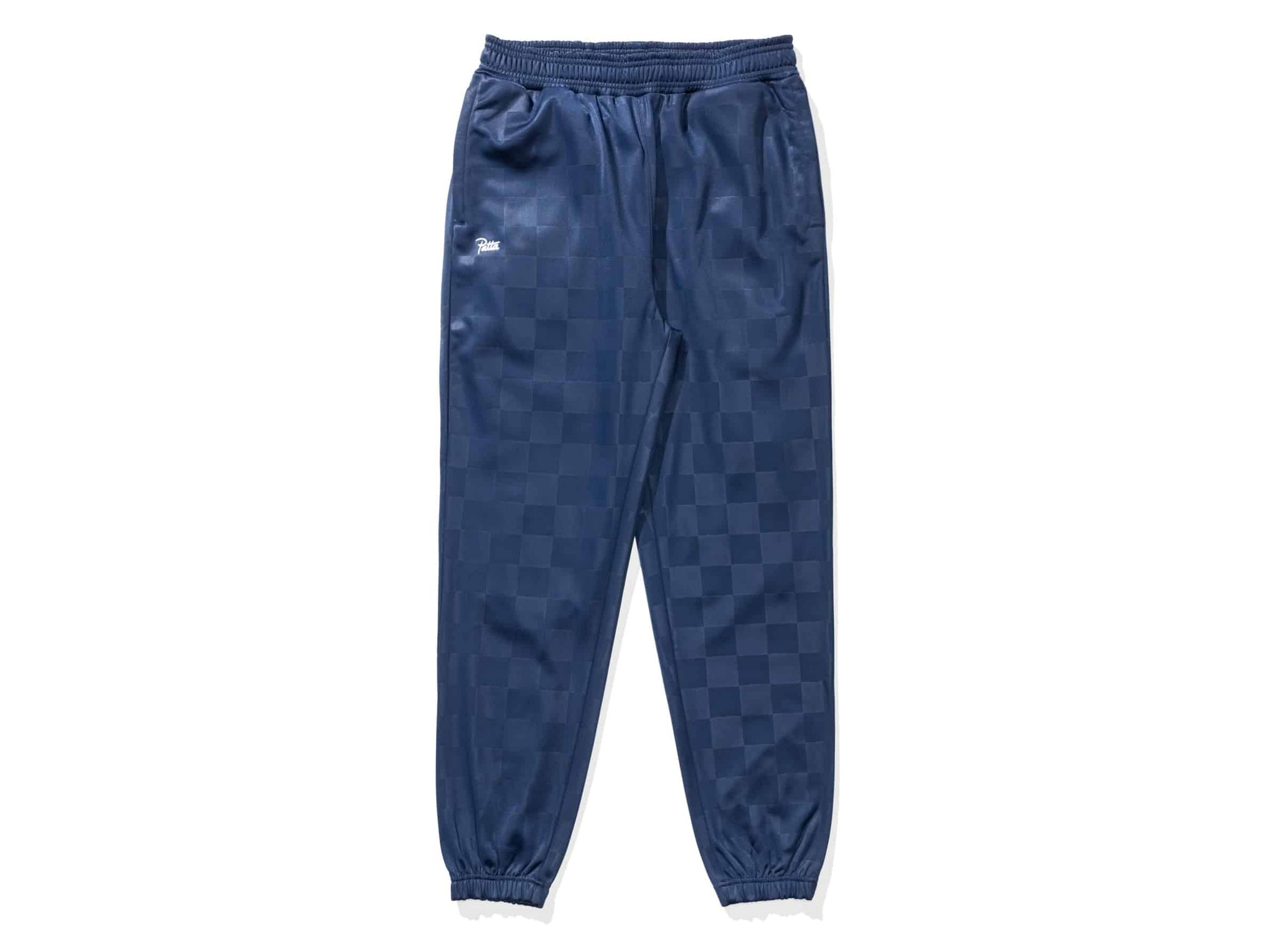 PATTA CHECKERED WARM UP JOGGER - BLACKIRIS