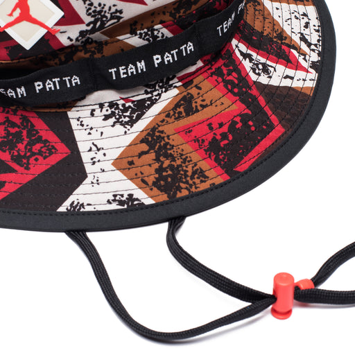c76ad9894fc ... JORDAN X PATTA JUMPMAN BUCKET HAT - BLACK/MULTICOLOR/LTCRIMSON Image 3