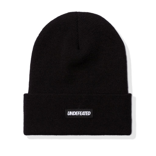 UNDEFEATED LABEL BEANIE - BLACK Image 1