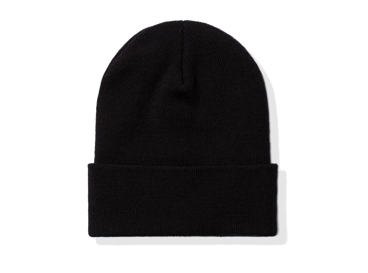 UNDEFEATED LABEL BEANIE - BLACK