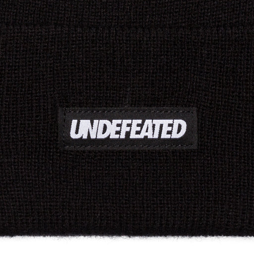 UNDEFEATED LABEL BEANIE - BLACK Image 3