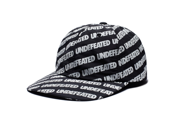 UNDEFEATED REFLECTIVE REPEAT STRAPBACK - BLACK