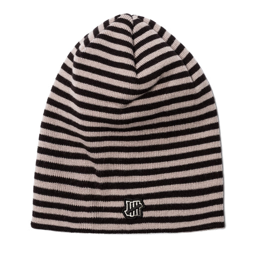 UNDEFEATED STRIPED BEANIE - BLACK Image 1