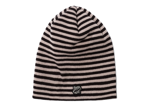 UNDEFEATED STRIPED BEANIE - BLACK