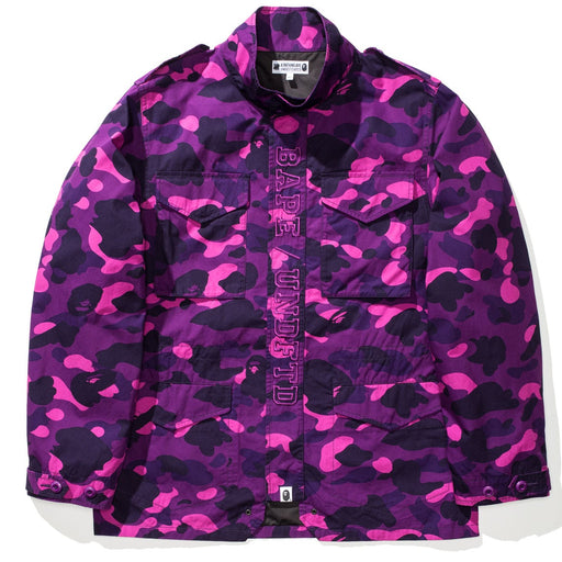 BAPE X UNDEFEATED COLOR CAMO M-65 - PURPLE Image 1