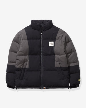 BAPE COLOR BLOCK DOWN JACKET - BLACK