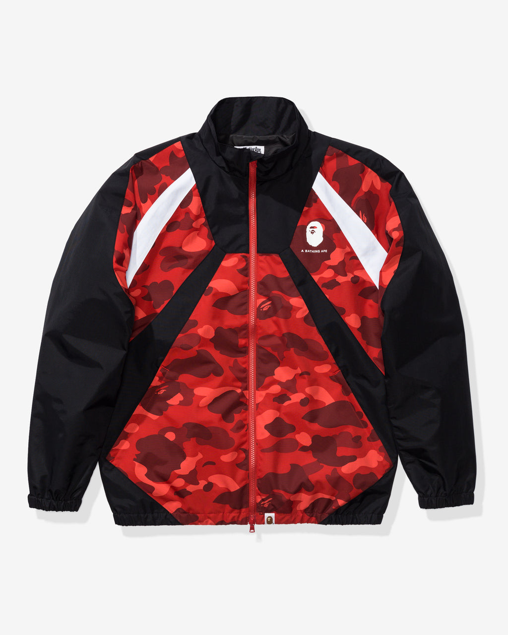 BAPE COLOR CAMO COLOR BLOCK JACKET - RED