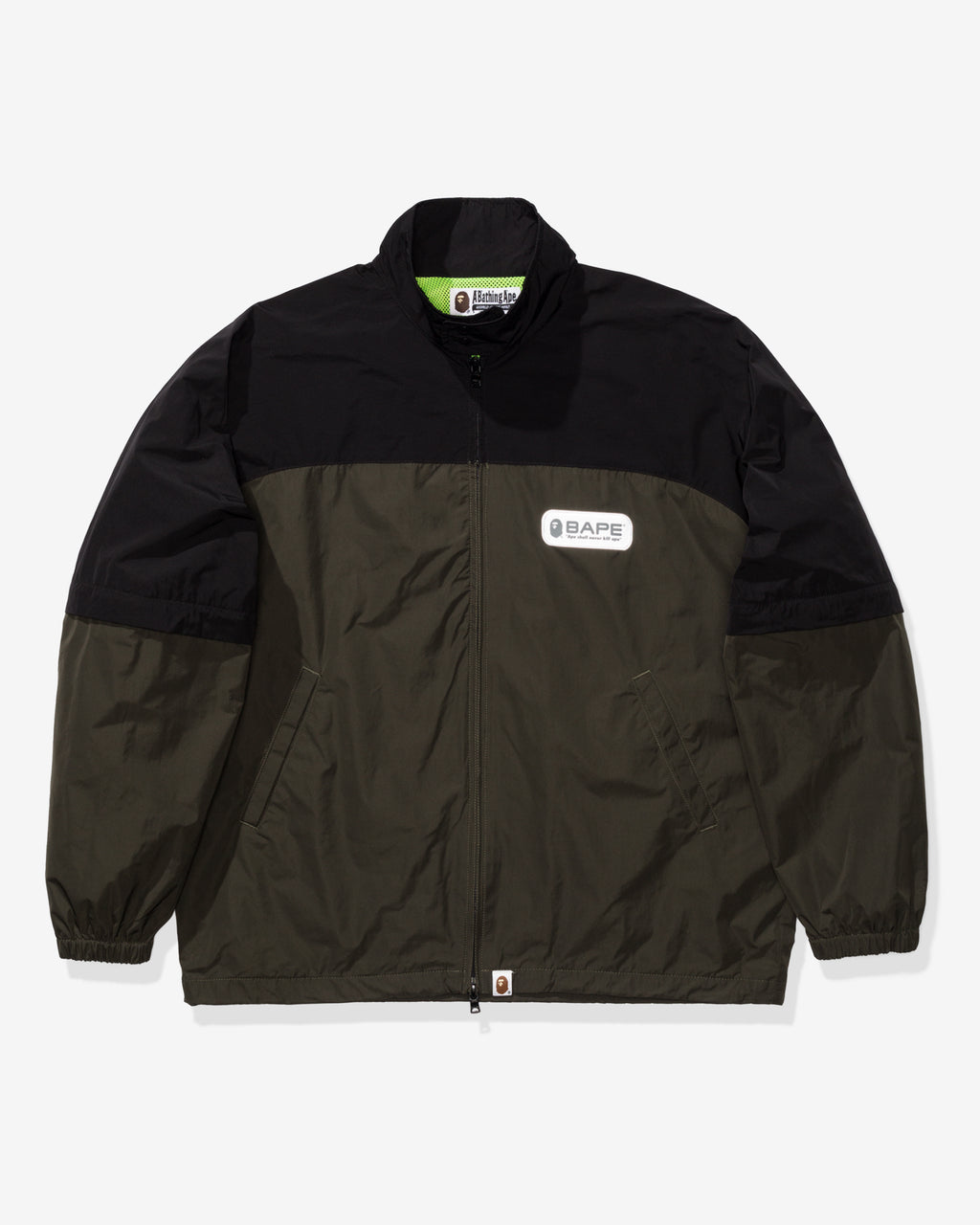 BAPE DETACHABLE SLEEVE JACKET - GREEN
