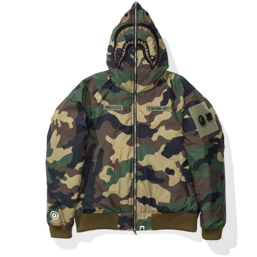 UNDEFEATED X BAPE WOODLAND CAMO SHARK DOWN JACKET Image 2
