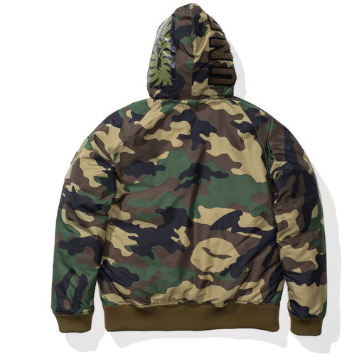 UNDEFEATED X BAPE WOODLAND CAMO SHARK DOWN JACKET Image 3